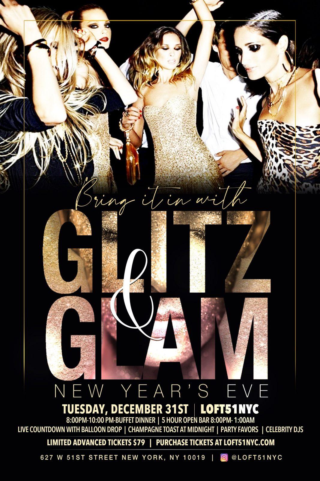 GLITZ & GLAM NYE 2020